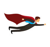 Businessperson flying avatar icon Stock Image