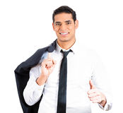 Businessperson giving thumbs up Stock Photography