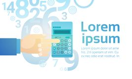 Businessperson Hand Hold Calculator Banking Accountant Royalty Free Stock Photos