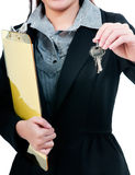 Businessperson Holding Keys Stock Photos