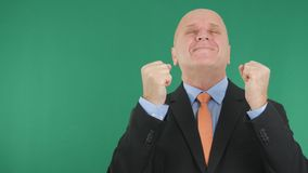 Businessperson Image Smile and Gesticulate Happy With Green Screen in Background. Image with a Businessperson Image Smile and Gesticulate Happy With Green Screen royalty free stock photos