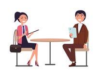 Businessperson Man och iklätt formellt för kvinna royaltyfri illustrationer