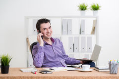 Businessperson on phone Stock Photos
