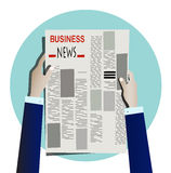Businessperson reading newspaper Royalty Free Stock Images
