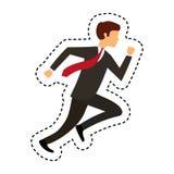Businessperson running avatar icon Stock Image