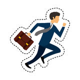 Businessperson running avatar icon Stock Photo