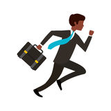 Businessperson running avatar icon Stock Images