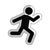 Businessperson running avatar icon Royalty Free Stock Photography