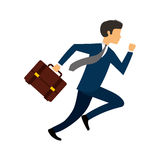 Businessperson running avatar icon Royalty Free Stock Images