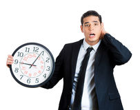 Businessperson running out of time Stock Photography