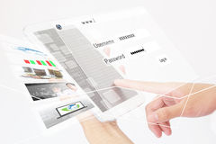 Businessperson Using A Digital Tablet Stock Images