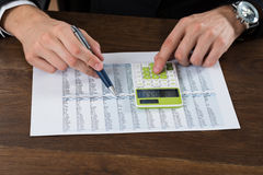Businessperson Working With Accounting Document royalty free stock photography