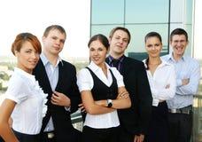 businesspersons гребут 6 стоя молоды Стоковые Изображения RF