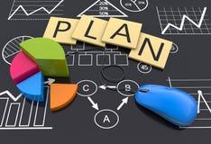 businessplan vector illustratie
