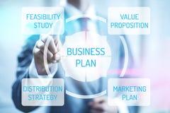 businessplan royalty-vrije illustratie