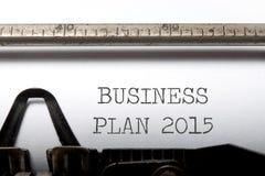businessplan 2015 Royalty-vrije Stock Foto