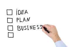 Businessplan Stockfoto