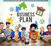 Businessplan de Richtlijnenconcept van de Planningsopdracht Royalty-vrije Stock Foto's