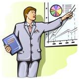 businessplan föreläsningshögtalare Stock Illustrationer