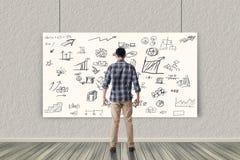 businessplan op muur stock fotografie