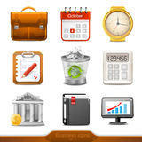 Business icons set1 Stock Photos