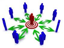 Businesss Kommunikation vektor abbildung