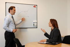 Businesss Meeting, Two People and Board Stock Photo