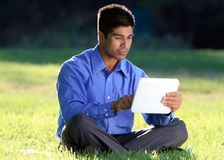Businesssman with digital tablet Stock Photo