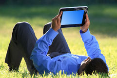 Businesssman with digital tablet Stock Photography