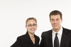 Businesssman en vrouw Stock Foto