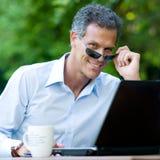 Businesssman intelligent Photographie stock