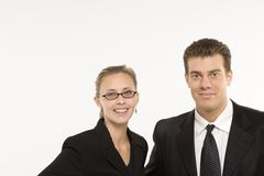Businesssman und Frau Stockfoto