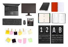 Businesssupplies and alphabet. Stock Image