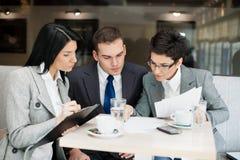Businessteam在会议上 免版税图库摄影