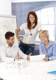 Businessteam在会议室 免版税库存图片