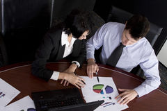 businessteam膝上型计算机 免版税库存照片
