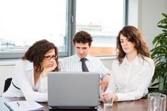 businessteam计算机工作 库存照片