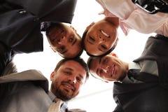 businessteam κεφάλια μικτά από κοινού Στοκ Φωτογραφίες