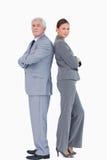 Businessteam που στέκεται πλάτη με πλάτη Στοκ Εικόνα