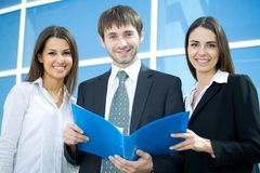 Businessteam. Young and successful business team Royalty Free Stock Photo