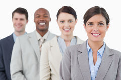 Στάση businessteam χαμόγελου νέα Στοκ φωτογραφίες με δικαίωμα ελεύθερης χρήσης