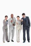 Businessteam agresywny jest Fotografia Royalty Free