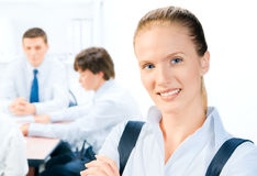 Businessteam And A Leader Royalty Free Stock Image
