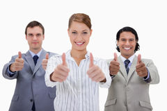 Businessteam approving Stock Photos