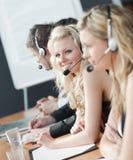 Businessteam avec des écouteurs image stock