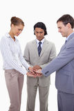 Businessteam cheering up Stock Image