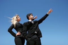 Businessteam com objetivo Foto de Stock