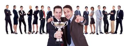 Businessteam di conquista Fotografie Stock