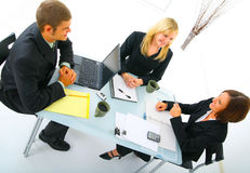Businessteam Discussing In Meeting Royalty Free Stock Image