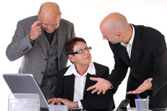 Businessteam in discussion. Working on desktop Royalty Free Stock Images